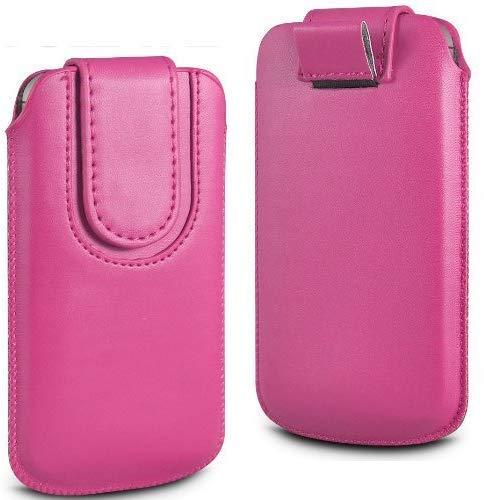 N4U Online Doro Phoneeasy 612 Premium PU Leder Zug Kippen Tab Schutzhüllen Tasche mit Magnetischem Riemen Schließung - Pink