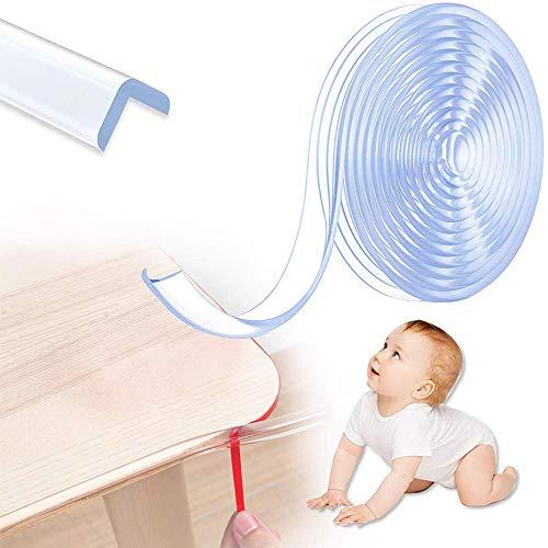 Bogeer Kantenschutz Baby, 6 Meter Tischkantenschutz Baby Transparent für Baby Kinder Schutz, Sanft Kantenschutz Transparent für Tische, Arbeitsplatten, Kommoden