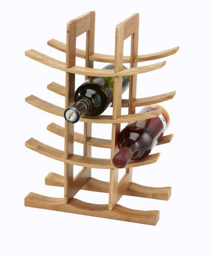 Inalsa BOTELLERO DE Bambu para 12 Botellas, marrón, 30 x 16 x 42 cm
