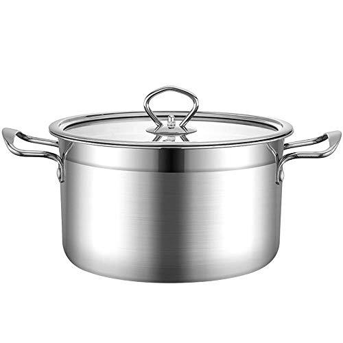 14cm Topf mit Deckel, 6L Edelstahl Home Küchenantihaft-Suppe Milch Pot Kochgeschirr für Gasofen/Cooker (Thin Bottom)