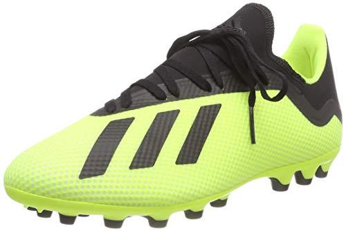adidas X 18.3 AG, Zapatillas de Fútbol para Hombre, Amarillo (Solar Yellow/Core Black/Footwear White 0), 42 2/3 EU