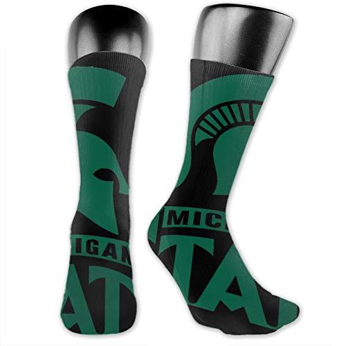 MAYUES Christmas Gifts Socks Calze Calzini Mic-Hi-Ga-N St-A-Te Un-Iv-Er-Sity Calze Sportive Traspiranti In Cotone Classico Unisex Calze Lunghe Casual Calze Spesse Calze Corte