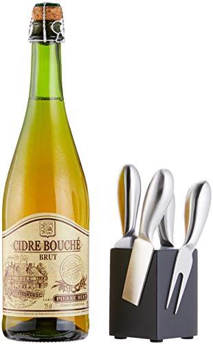 *Geschenk Set mit 0,75 l hochwertigem Cidre und Käsemesser-Block*