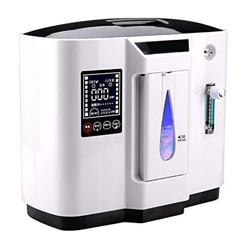 ALX-Dec Concentrateur D'oxygène Portable 1-7l Machine à Oxygène avec Télécommande 20m, Haute Concentration à Faible Bruit De Fonctionnement, 3000 Heures De Travail Continu