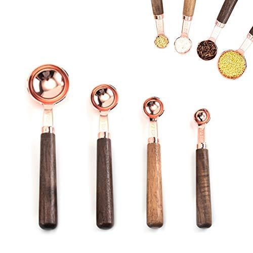 4 Piezas Cuchara Medidora Cocina, Cuchara Medidora Acero Ino
