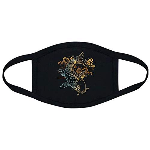 Aadiju Anti-dust Black Mouth Mask, Unisex Face Mask Muffle Mask Anime Mask for Cycling Travel Outdoors for Adult Men Women