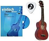 Zoundhouse 0023090 - Ukulele per principianti con manuale, CD e plettro