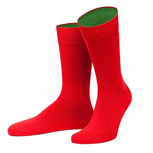 von Jungfeld - Herren Socken/Strumpf Herrensocken Baumwolle 1 Paar 42-44 rot