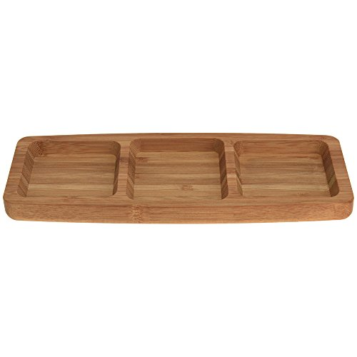 Bamboo Serving Platter Plate Boa...