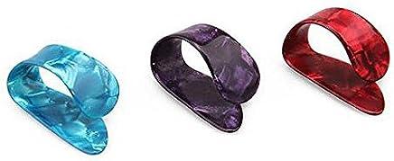 Dcolor 3 x Plettro Plastico Dita Finger Pollice per Chitarra