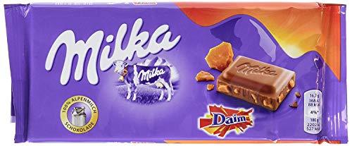 Milka Daim - 9 x 100g | Alpenmilchschokolade mit Daim-Stücken