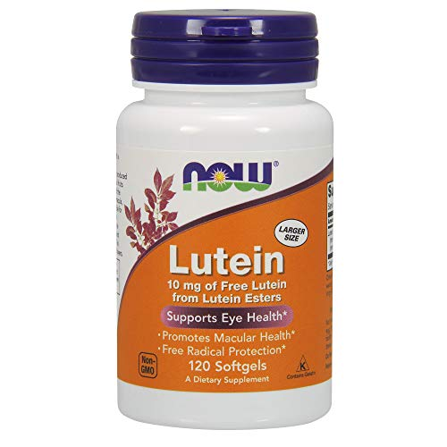 NOW Foods Lutein 10 mg Softgels, 120