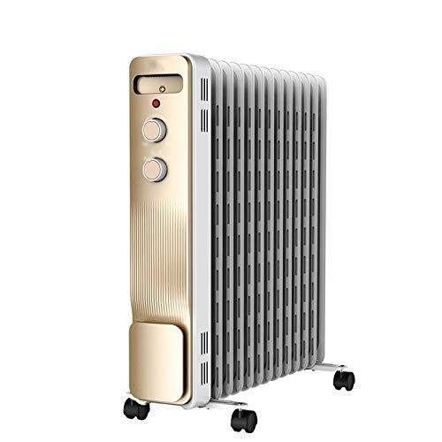 Calefactor eléctrico Radiador de calefacción - Calentador de aceite, calentador portátil con protección contra el sobrecalentamiento, ajustable Termostato, Con Aceite Calentador del radiador for el ho