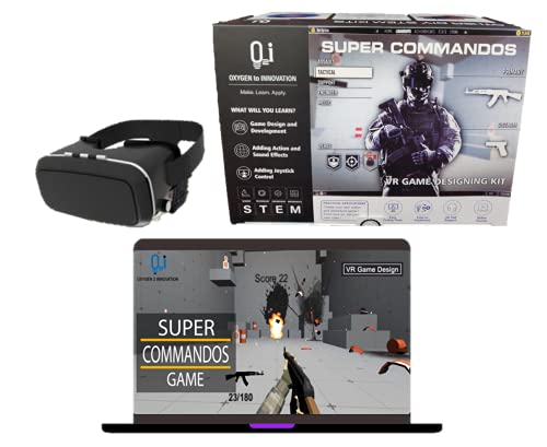 O2i Super Commandos, DIY VR Games Designing Kit for Kids | Create Own Virtual Reality Games for Xbox and Playstation