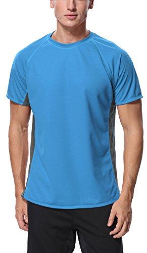 Charmo Surf Rash Shirt Mens Rash Guard Short Sleeve Swimsuit top Solid Sun tee 2XL