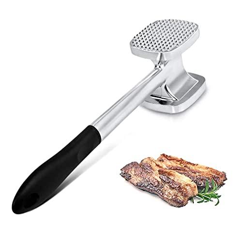 Martillo para Ablandar Carne, minghaoyuan Heavy Duty Mazo Para Carne de Aluminio de Doble, Herramienta para Ablandar Carne Cocina Golpeando y Tenderizing Carne y Pollo