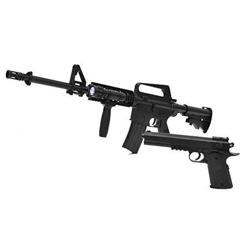 ベルソス(VERSOS) VERSOS エアーガンセット Colt1911モデル & M4 R.I.Sモデル [ VS-C-M4 ]   M4モデル コルトモデル エアーガンキット エアガン サバイバルゲーム サバゲー アウトドア ブラック