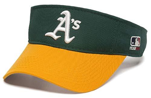 OC Sports Oakland Athletics A's MLB Two Tone Golf Sun Visor Hat Cap Adult Men's Adjustable