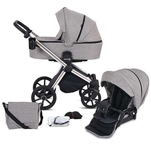 Knorr-Baby Kombi-Kinderwagen LIFE+ 2.0 Silver Edition Graphit