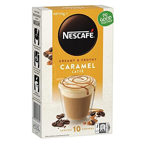NESCAFÉ Caramel Latte Coffee Sachets 40 Pack, 4 x 10 Pack