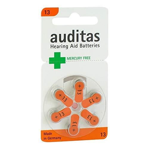 AUDITAS Hörgerätebatterie 13 Quecksilber frei 6 St