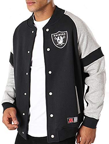 Majestic Oakland Raiders NFL Jeiter Fleece Letterman Jacke S Schwarz