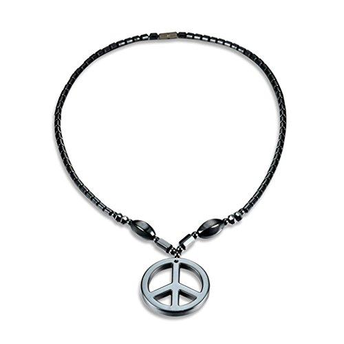 Hämatit-Halskette mit Magnettherapie, Heilung, Gesundheit, Unisex-Schmuck, geometrisch