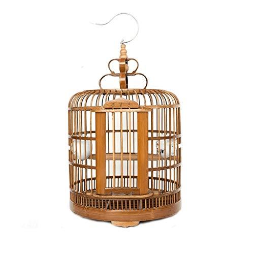KGDC Gabbia Voliera per Uccelli Uccelli di bambù Large Size Bird Cage tordo e L'Altro Mezzo Dimensioni Pet Supplies Uccello Villa 3 Colori Possono Scegliere Bird Cage Uccelli Gabbie