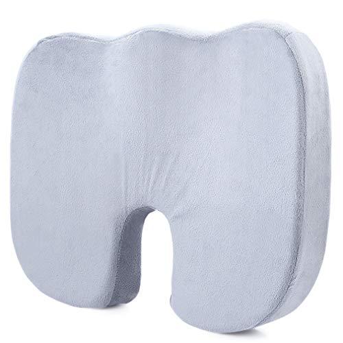 Cuscino ortopedico in memory foam per coccige di alta qualità, per sollievo dal dolore della sedia dell'automobile e dell'ufficio