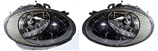 Go-Parts - PAIR/SET - OE Replacement for 1998 - 1999 Ford Taurus Front Headlights Headlamps Assemblies Front Housing / Lens / Cover - Left & Right (Driver & Passenger) FO2503157 FO2502157 XF1Z