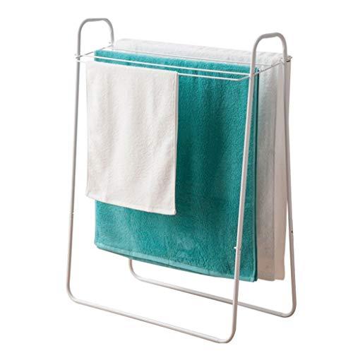 Handtuchständer Stehend Metall Handtuchhalter Ohne Bohren Standtrockner, Wäscheständer, Wäschetrockner, Handtuchständer kann kooperieren für Klein Heizkörper Weiß