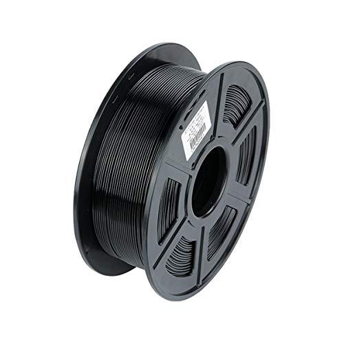 VOMI Filament PLA Schwarz 1,75 +/- 0,02 mm, 1kg Spool (2,2 LBS)/ Verwicklung frei/Vakuumverpackung, PLA 3D Drucker Filament 1,75mm 3D-Druckerfilament für 3D Drucker/ 3D Stift