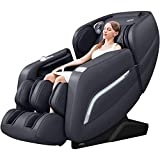 iRest 2020 Massage Chair, Full Body Zero Gravity Recliner with AI Voice Control, Handrail Shortcut Key, SL Track, Bluetooth, Thai Stretching, Foot Rollers, Airbags, Heating (Black)