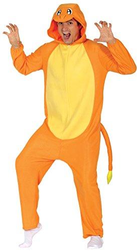 Guirca- Disfraz adulto dragón, Color naranja, Talla 52-54 (84626.0)