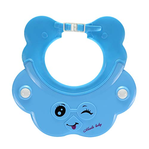 YULAN Baby Shampoo Cap voor kinderen, waterdichte oorbeschermer, siliconen baby shower cap kind, instelbaar