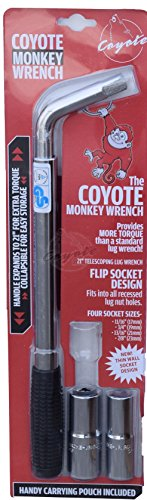 Coyote Monkey Wrench - Telescoping Lug Wrench - With Thin Wall Sockets