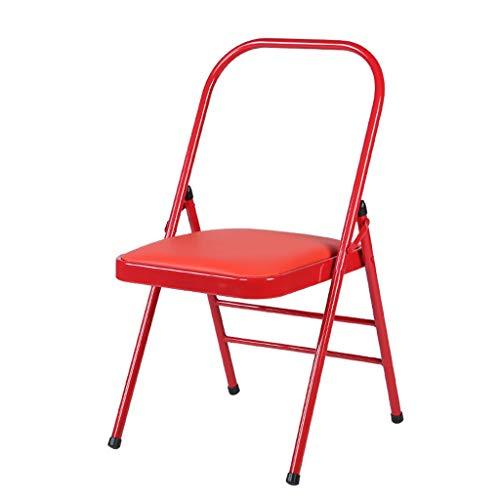 Niuniu Yoga Aids Workout Stuhl Backless Metall Yoga Folding Stahl Stuhl Thick Ausklappbaren Stuhl (Color : B)