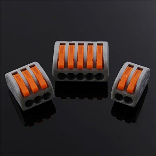 60pcs Kabel Stecker Draht Universal Junction Compact Box Steckverbinder Schnellanschlüsse mit 2/3/5 Way