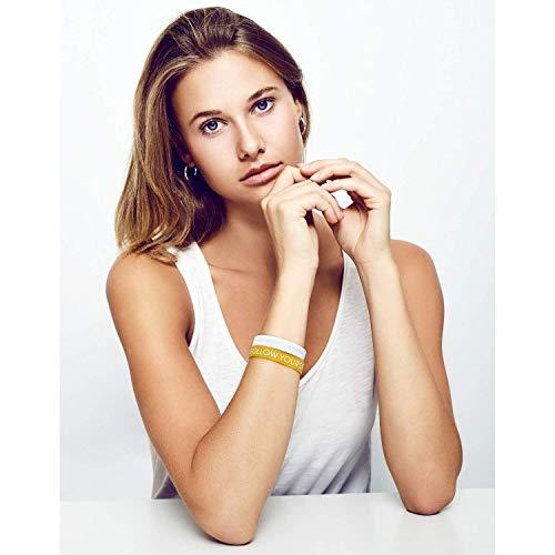 Aura Design Damen-Armband | Gold | Follow Your Dreams | Silikonarmband | Sportarmband | Fitness-Armband | Armband für Damen | 4 Armbänder