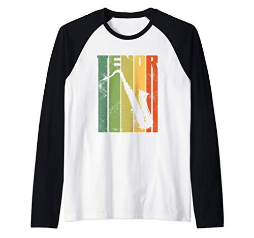 Perfect Jazz Tenor Saxophone Cool Sax Musician Gift Camiseta Manga Raglan