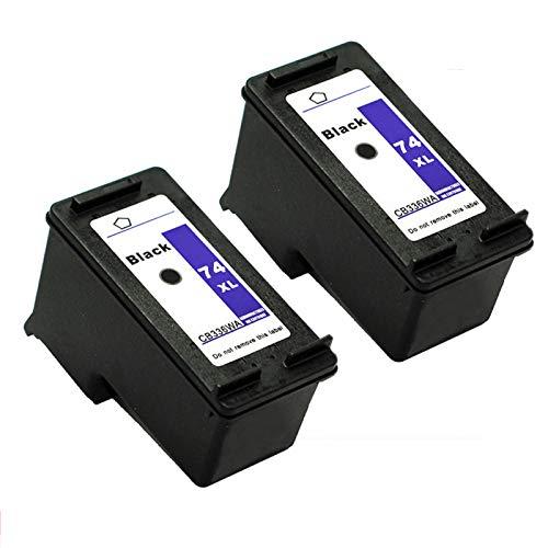 Cartucho de tinta de alta rendimiento compatible para HP74 75XL, para D4260 D4263 D4280 D4360 J5790 impresora 2*black