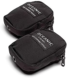 OCEANIC PAIR OF BIOLITE TANK BAND DUMPABLE WEIGHT POCKETS POUCHES