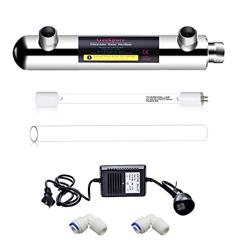 Geekpure 6 Watt Ultraviolet Water Filter for Reverse Osmosis Filtration (0.5-1 GPM)