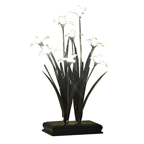Busirsiz Iluminación decorativa, Reading lámpara- de noche y de mesa Lámparas Lámpara llevada creativa decoración de la tabla de la lámpara de cristal de la lámpara de noche Crafts Orquídea mesa de es