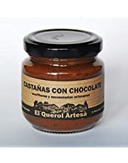 Mermelada Artesana de CASTAÑAS CON CHOCOLATE. 170gr. Ingredientes 100% naturales. Envíos gratis a partir de 20€.