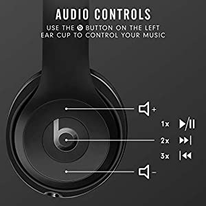 Beats Solo3 Wireless On-Ear Headphones - Apple W1 Headphone Chip, Class 1 Bluetooth, 40 Hours of Listening Time, Built-in Microphone - Black (Latest Model)