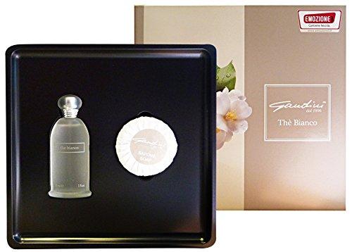 kit gandini the' bianco - eau de toilette 30 ml + bath soap 60g