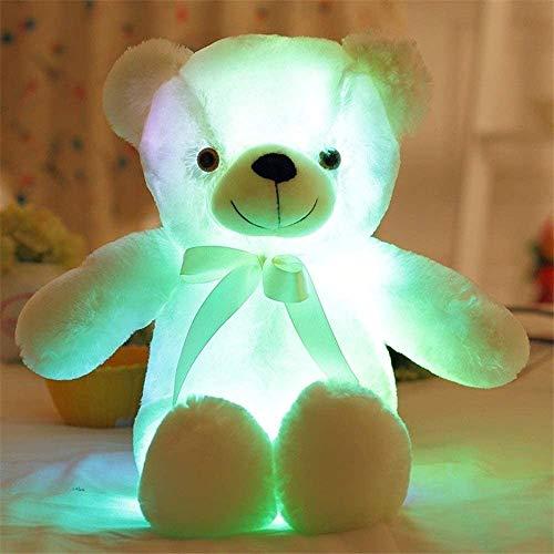 Tagke LED Ours en Peluche en Peluche, Big Creative Kawaii Light Up LED Glowing Veilleuse Inductive Lumineux Ours en Peluche Peluche Poupée Animaux Oreiller Chambre, Enfants, bébé (30/50/80 cm)