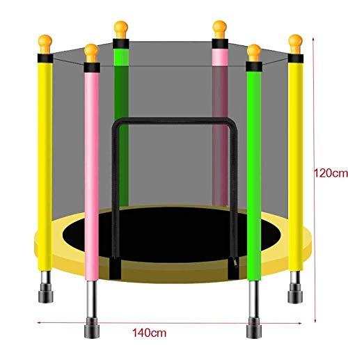 Trampoline met luidspreker, veiligheidsnet voor kinderen, maximale draagkracht binnen en buiten, 200 kg, 140 cm 110 cm.