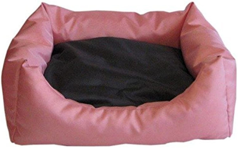 Best For Pets Orthopedic Dog Bed Easy Dog Cushion OrthoMedic VISCO Pillow (L, PinkBlack)